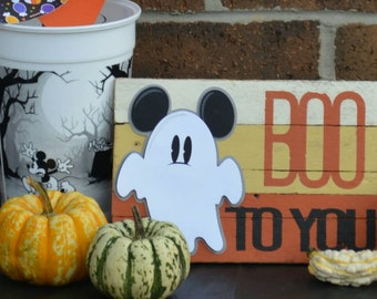 Disney Boo to you, Mickey ghost wall hanging, homemade