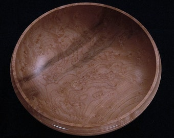 Birds Eye Maple Wood Bowl Fine Woodworking Eccentric Old Guy Lathe Turned Gifts For Lady Doctor Living Room Decor Fifth 5th Anniversary 1307