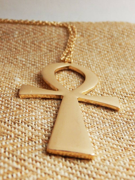 Gold Ankh Necklaces Large Ankh Jewelry Egyptian Necklaces Ankh