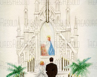 Bride And Groom In Church Wedding Card #239 Digital Download