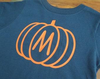 Personalized Thanksgiving Toddler Shirt, Pumpkin Toddler Shirt, Initial Shirt, Fall Toddler, Toddler Thanksgiving, Toddler Pumpkin Boy, Girl