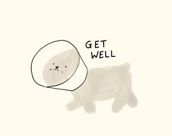 Get Well Bichon / Greeting Card