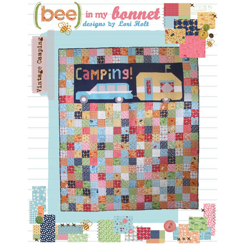 Retro Travel Trailer Quilt Pattern Camping By Lori Holt Bee