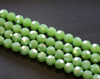 10MM Green Crystal Beads