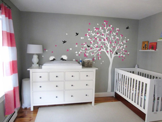 Moderne baby kinderzimmer wand baum decal kinder - Bucherregal kinderzimmer wand ...