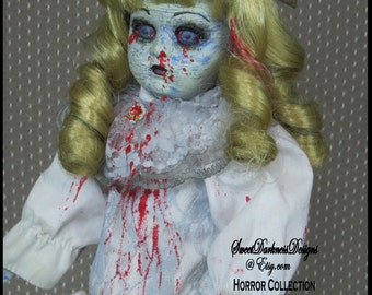 CORPSE DOLL Ghost Doll Dead Doll Victorian Girl Doll CREEPY Doll Gothic Horror Doll Zombie Doll Vampire Doll by SweetDarknessDesigns