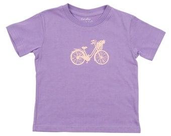 Beach Cruiser Bicycle Toddler Girls Tee SALE