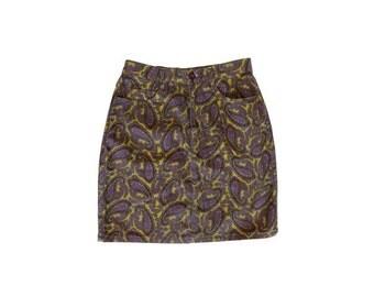 1980s NAF NAF peasley denim SKIRT // 80s pencil denim skirt// size eu 42 - uk 14-us10