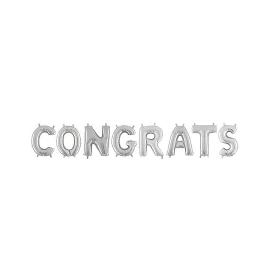 Congrats Letter Balloons Congratulations Balloon Banner