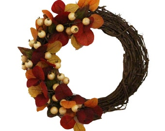 Autumn Grapevine Door Wreath