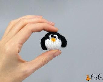 Miniature penguin Plush penguin Christmas gift Stuffed penguin Christmas decor Tiny animal Dollhouse Christmas miniature collection penguin