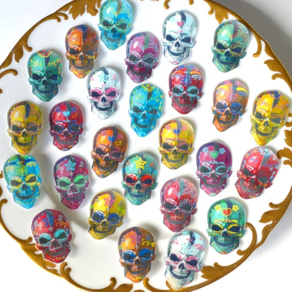 Edible Cake Decorations Skull : Edible Calavera Sugar Skulls Day of the Dead by ...