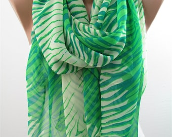 Green Scarf Shawl Women Fashion Accessories Holiday Christmas Gift For Her For Women For Mom Infinity Scarf Circle Scarf Loop Scarf DERINS