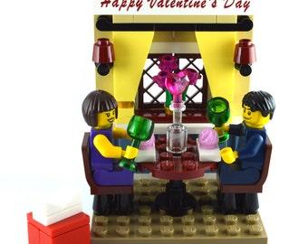Personalised LEGO® 40120 Valentine wedding cake topper table decoration