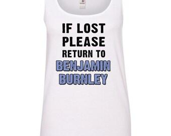 If Lost Please Return to Benjamin Burley (Breaking Benjamin) Ladies TANK TOP