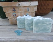 Clean Cotton Swirled Soap, Natural Soap, Handmade Soap, Spa Soap, Cold process Soap, Homemade Soap, Artisan Soap, New Hampshire Soap,Spa Bar