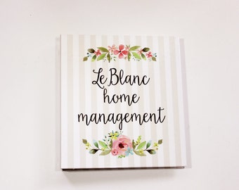 home management binder - personalized planner binder for home organization