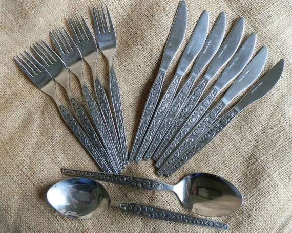 Vintage 1970 S Stainless Steel Cutlery Flatware