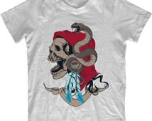 Snake Master Unisex T-shirt Instafashion Hipster Retro Indie Cool Tee - The Shirt Shack Custom Screen Printing TF2
