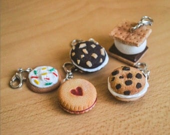 Cookie charms Polymer Clay