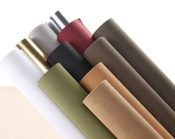 New Colors Arrive! Washable Kraft Paper, Pulp Fibre Blends, Made by German Texon, 11Colors, Great material for handmade bags, notebooks..