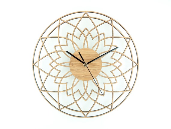 Wooden Wall Clock Unique Wedding Gift Modern Wall By