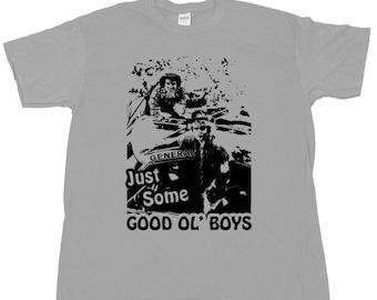 GOOD OL BOYS T Shirt Waylon Jennings The Dukes Of Hazzard Bo Luke Daisy Duke General Lee Dixie Air Horn Crazy Cooter Davenport Boss Hogg Tee