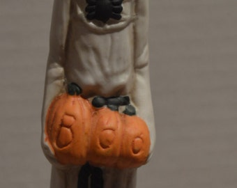 Haunted Haven Pencil Ghost Hand Painted Porcelain Figurine