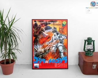 Godzilla vs. Mechagodzilla Poster / Print / Art - Retro   Crystal Archive Print