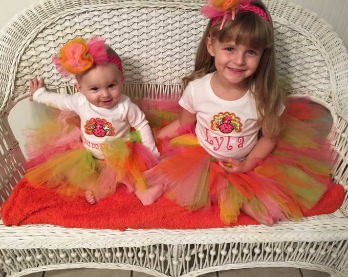 Girls Thanksgiving outfit, Baby Thanksgiving outfit, Personalized Thanksgiving Turkey Outfit, Thanksgiving bodysuit,Thanksgiving  tutu