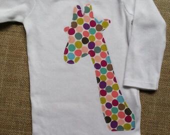 Giraffe Onesie-Giraffe Bodysuit-Baby Girl Onesie-New Baby Girl-Baby Girl Shower Gift-Zoo Birthday-Animal Bodysuit-Gift for New Mommy