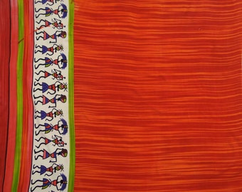 """Indian Pure Cotton 43"""" Wd Red Craft Fabric Designer Abstract Print Fabric Dressmaking Material Indian Pure Cotton Fabric By 1 Yard  ZBC7368A"""