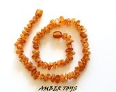 Raw Unpolished Baltic Amber Necklace for Baby - (KN-011)