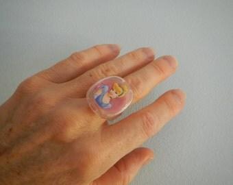 "Disney ""Cinderella"" Ring with Lipstick Inside"