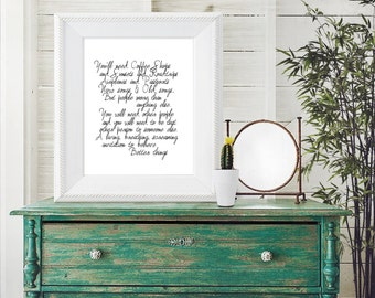 """PRINTABLE Art """"You'll Need Coffee Shops.."""" Typography Art Print 