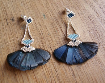 Mastani - Earrings blue and silver