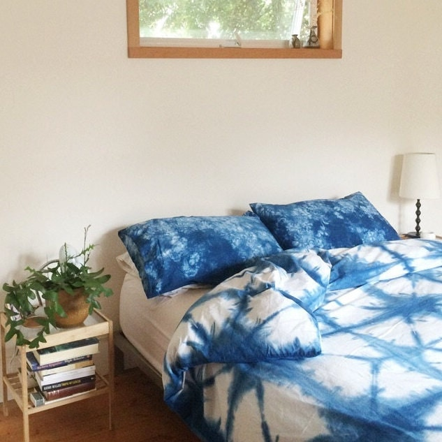 On Sale Hand Dyed Indigo Bedding Shibori Bedding King