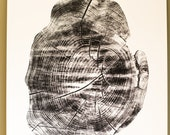 Tree Stump Tree Rings Large Screen Print 18 x 24