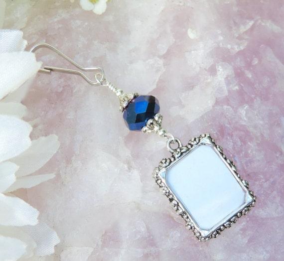Blue Bridal Bouquet Charm : Something blue wedding bouquet photo charm bridal
