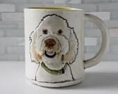 Goldendoodle Mug | coffee mug tea cup | dog pet puppy mug animal mug | gold yellow interior | made to order