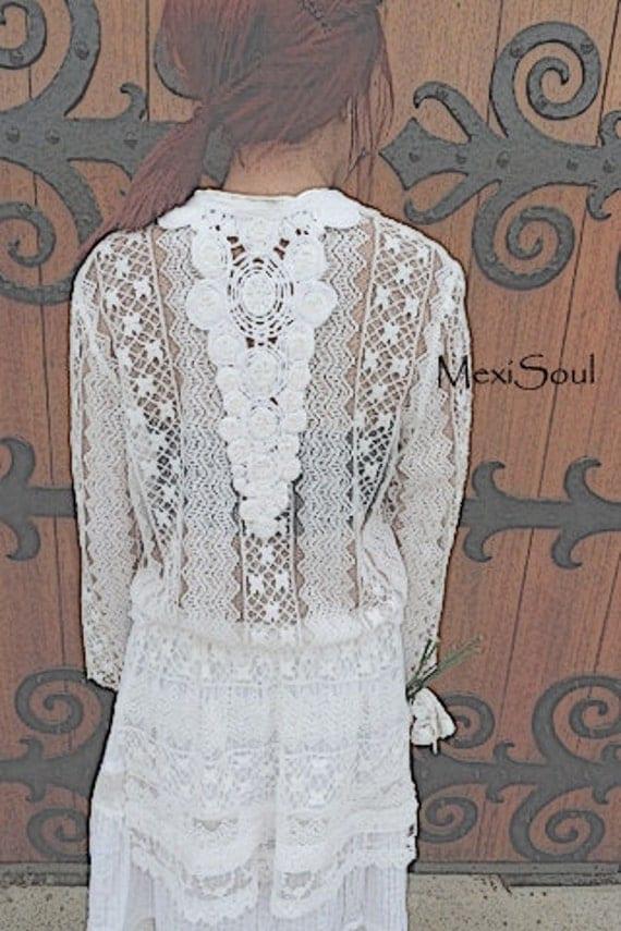 SALE, White Prairie/Ranch Wedding Dress, Unique Wedding Dress, Ranch/Prairie Bride, OOAK Design, Alternative Wedding Dress