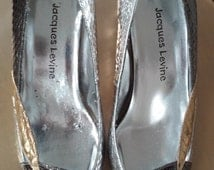 80s JACQUES LEVINE--Multiple Metallics Pumps--Snakeskin in Gold, Silver, Bronze, and Copper--Size 6.5
