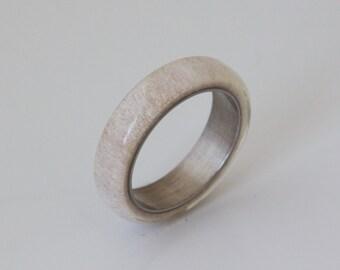 antler ring SIZE 9.5 titanium ring titanium wedding band deer antler band men ring woman ring #8