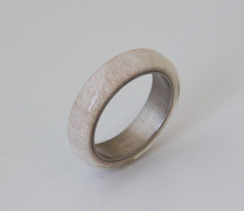 antler ring size 9 5 titanium ring titanium wedding band deer