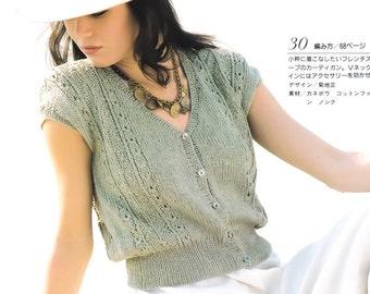Vintage Knitting Pattern, Japanese Craft Book, Knit Blouse Pattern, Knit Sweater Pattern