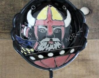 SALE/// Mid Century Norwegian Viking Ship Candy Dish