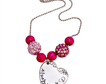 Always in my Heart Breast Cancer Awareness Necklace