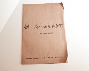 Ad Reinhardt Art Comics and Satires  / TRUMAN GALLERY PORTFOLIO 1976