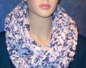 Crochet Infinity Scarf, Blue Chunky Infinity Scarf, Infinity Scarf,  Blue Crochet Infinity Scarf, Plush Infinity Scarf, Blue Infinity Scarf