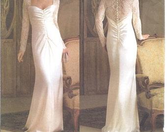 Vintage Vogue Sewing Pattern 2846, Belleville Sassoon design original wedding gown OOP